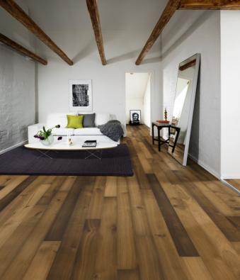 Dřevěná krytina KÄHRS   Kolekce Habitat, dekor Dub Wilds, prodává KPP