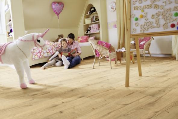 Ekologická elastická podlaha Wineo PURLINE, kolekce Wood, dekor Dub Garden, prodává KPP