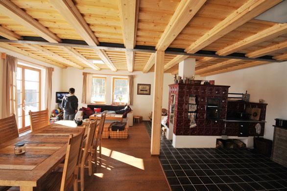 Chalupa v Drslavicích, Šumava - Obývací prostor