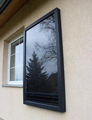 Teplovzdušný solární panel SHV Start One Baze L slouží květrání aodvlhčování vlhkých místností, sklepů, garáží nebo nevětraných rekreačních objektů bez potřeby elektřiny. Cena 32500Kč vč. DPH (SolarHeatVenti.cz).