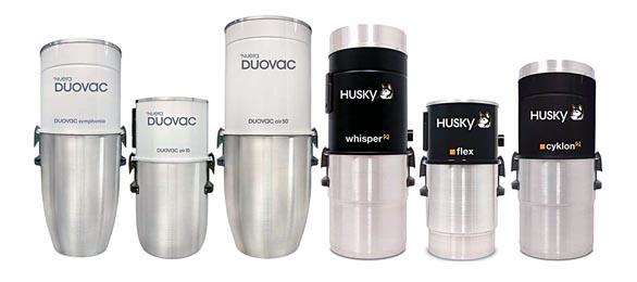 Modely DUOVAC AIR 50 a Whisper 2 mají unikátní vestavěný tlumič výfuku vzduchu ajsou díky tomu bezkonkurenčně nejtišší natrhu. Agregáty Husky jsou vhodné dovšech typů avelikostí rodinných domů (NEWAG).