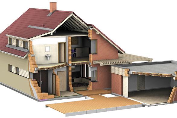 Stavbu moderních parametrů doslova od základů po střechu umožňuje konstrukční systém Porotherm (Wienerberger).