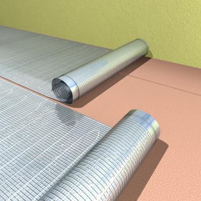 Hliníkové rohože AL-MAT do koupelen, kam nelze topné  fólie ECOFILM instalovat, mohou být hledaným řešením (FENIX ).