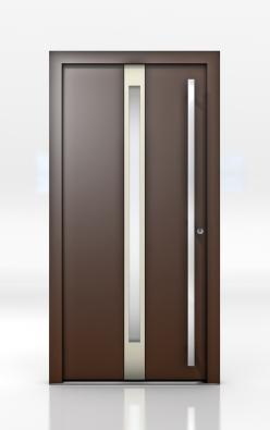 Dveře HT 300 jsou díky hliníkovému profilu na vnější straně snadno udržovatelné a získají povrchy odolné vůči povětrnosti (INTERNORM).