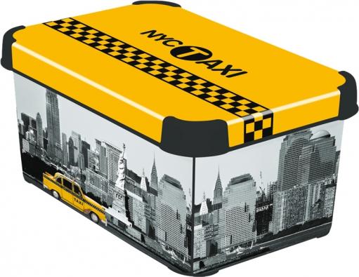 Úložný dekorativní box (Curver), polypropylen, 13,5 x 29,5 x 19,5cm, www.curver-shop.cz