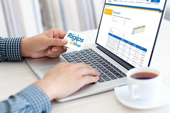 V e-shopu společnosti Rigips se zorientujete velmi snadno a rychle.