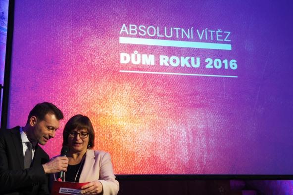 Slavnostní vyhlášení výsledků soutěžní ankety DŮM ROKU 2016