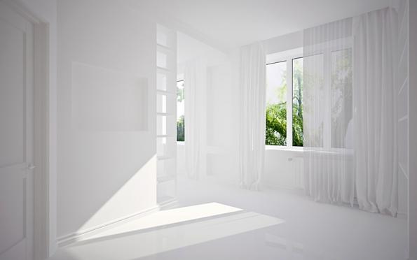 Interiér celostně realizovaný ze sádrokartonu vyniká vzdušností a elegancí.