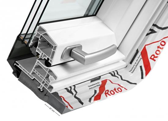 Řez střešního okna Designo