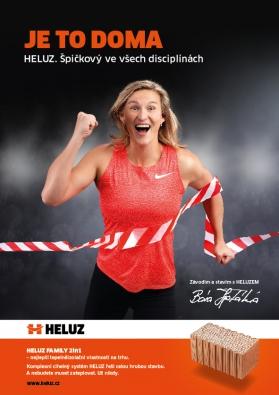 Při medailových hodech Bára staví i na výborných výsledcích v jiných disciplínách. Stejně tak HELUZ vyniká v mnoha parametrech, říká vedoucí marketingu Eliška Klimešová.