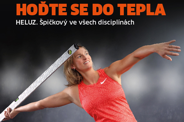 Přední český výrobce cihelného systému pro hrubou stavbu HELUZ se v nové kampani rozhodl propojit stavbu rodinného domu se světem vrcholového sportu. Firma přitom využila spolupráci se špičkovou oštěpařkou Bárou Špotákovou.