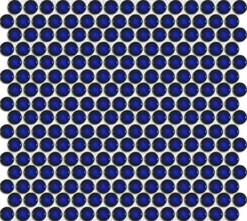 Mozaika (Premium Mosaic) splastickými retro puntíky oprůměru 1,9cm si rozverně pohraje se stěnou koupelny ikuchyně, 31, 5 x 29,4cm, www.siko.cz