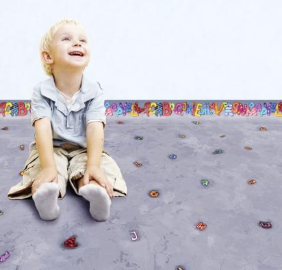 Ekologická elastická podlaha Wineo PURLINE, kolekce Artist, dekor Letter Dance, prodáva KPP.