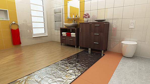 Hliníkové topné rohože AL MAT jsou vhodné pod laminátové a dřevěné plovoucí podlahy (FENIX).