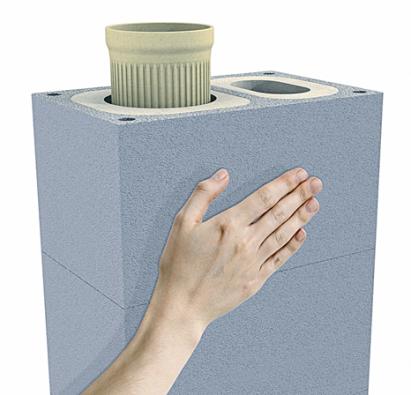 Schiedel Absolut Xpert je komín určený pro využití v pasivně energetických stavbách. Komín má samostatně řešené vedení externího vzduchu, skvěle těsní a na jeho plášti nedochází ke kondenzaci vodních par (SCHIEDEL).