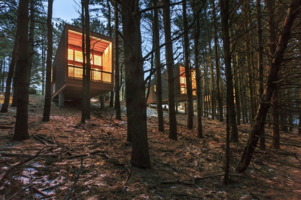 2016 AIA Housing Awards: Chatky v chráněné oblasti Whitetail Woods, Minnesota (Foto: Paul Crosby)