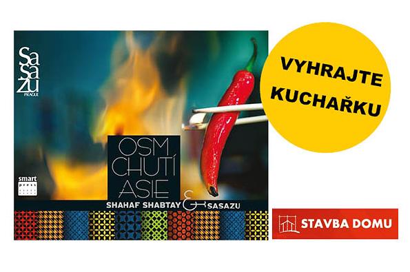 S portálem Stavbadomu.net můžete do konce měsíce dubna soutěžit o originální kuchařku Shahaf Shabtay & SaSaZu: Osm chutí Asie.