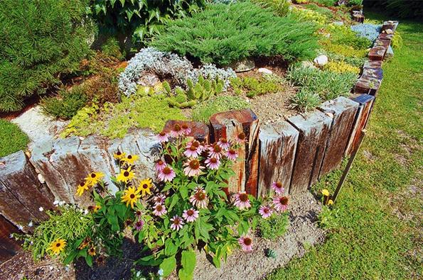 Zahradní inspirace: Terasy a pražce