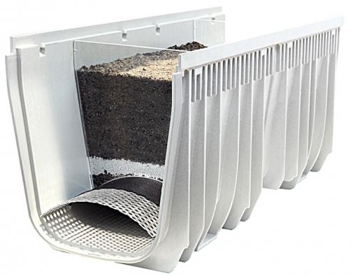Pokud stojíte o to, aby vám na pozemek nepronikala kontaminovaná voda, použijte filtrační žlábek RONN MEA CLEAN s víceúrovňovou filtrací, která zachycuje i těžké kovy (RONN).