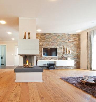 Haas Fertigbau: Lucky, obývací pokoj