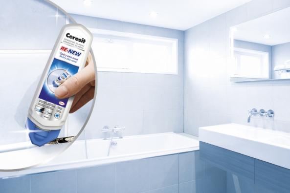 Ceresit RE-NEW obnovovač silikonů navrátí dech každé spáře i celému vašemu obložení, ať už se jedná o kuchyň, koupelnu, toaletu či prádelnu.