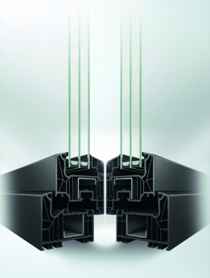 Schüco LivIng: Řezy okenním profilem - středové a dorazové těsnění