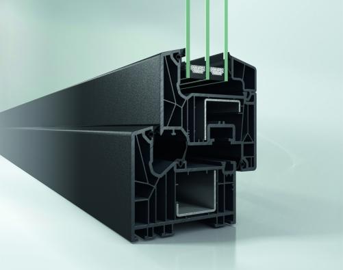 Schüco LivIng včetně středového těsnění, metalický odstín (Schüco Automotive Finish)