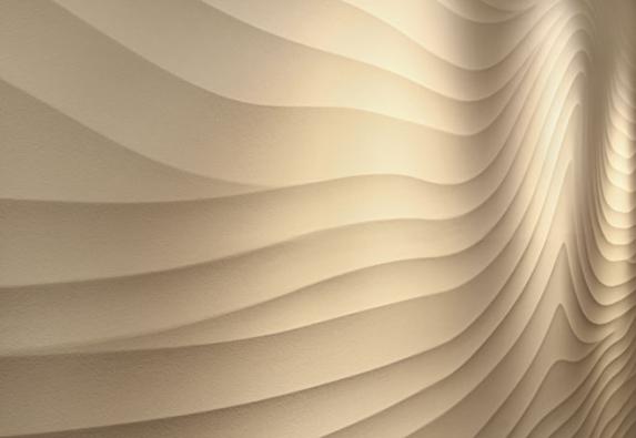 Ukázka různých typů povrchů: Sculptural. Více na www.luxusnipovrchy.cz