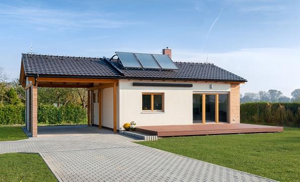 Vzorový bungalov Studio v Němčicích u Pardubic je ukázkou velmi žádaného typu bydlení – bezbariérové  nízkoenergetické dřevostavby s komfortním vybavením. www.natur-house.cz