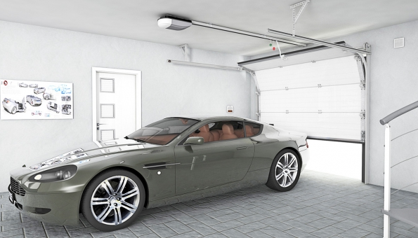 Sekční garážová vrata jsou složena ze sekcí, které pomocí systému torzních pružin zajíždějí na vodicích kolejnicích pod strop (LOMAX)