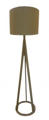 Irelia (Miotto), dřevěná konstrukce, stínidlo zbavlny, výška 155cm, Ø stínidla 40,5cm