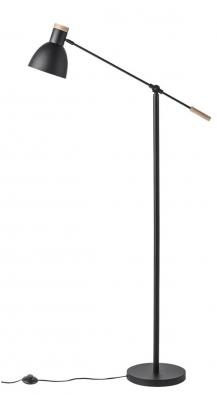 Matte Black, konstrukce zmatně lakovaného kovu sdřevěnými detaily, výška 152cm, délka ramene 72cm, Østínidla 18cm, www.bellarose.cz