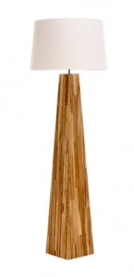Terrence je zrecyklovaného teakového dřeva, každý kus je proto unikát, výška 166cm,  Ø stínidla 55cm,  www.sobnabytek.cz