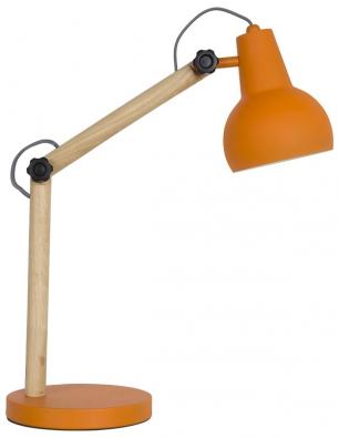 Bureaulamp Study (Zuiver), konstrukce ze dřeva akovu, výška 72,5cm, Ø stínidla 20cm, www.zuiver.com