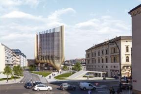 Penta - developerský projekt Central Bussines District, Masarykovo nádraží: zákres ulice