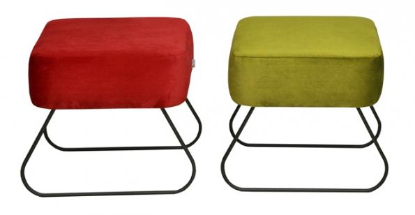 Puf Lever, design Catherine Jasyk,  40 x 40 x 40cm, vyrábí Happy Barok, happybarok.pl