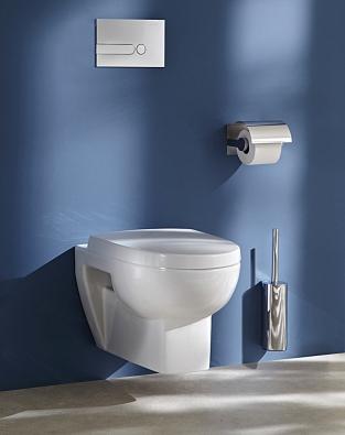Nejnovější  WC mísy zn. Kohler vtzv. rimless provedení nemají lemy, kde se usazují nečistoty, ajsou vysoce hygienické.