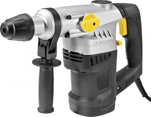 CMI lehké vrtací kladivo 1500 W, 730ot./min, uchycení SOS+, max. průměr vrtáku  32 mm. Kladivo umožňuje dvoustupňovou regulaci a je vybaveno třemi vrtáky a dvěma sekáči. Maximální průměr při vrtání do oceli je 13 mm, do betonu 36 mm a do dřeva 40 mm (MAGNESIUM)