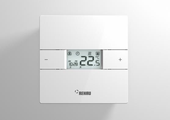 Prostorový termostat NEA přesvědčuje oceněným designem, snadnou montáží, dětsky jednoduchým ovládáním, jakož i velkým počtem komfortních funkcí.