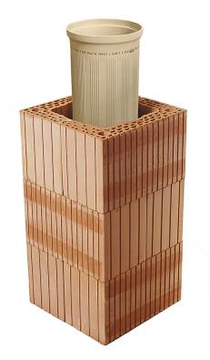 Díky unikátním cihlovým tvarovkám jsou komínové systémy HELUZ vhodné pro cihlové stavby, ipro stavby zjiných materiálů.
