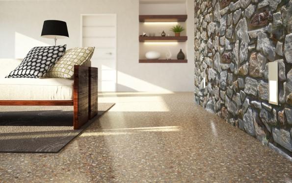 CEMFLOW Look – pohledová podlaha v interiéru