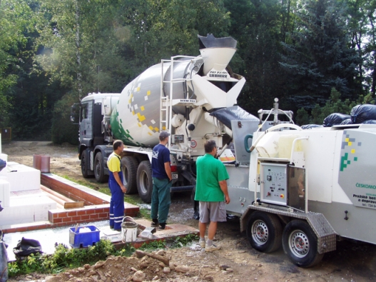 Poriment: výroba na stavbě (ČESKOMORAVSKÝ BETON)