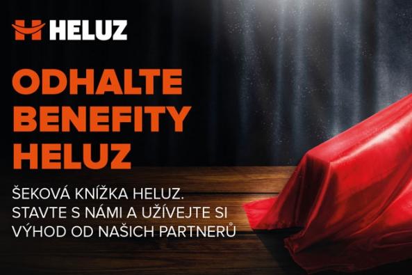Šeková knížka HELUZ je plná bonusů od partnerů firmy.