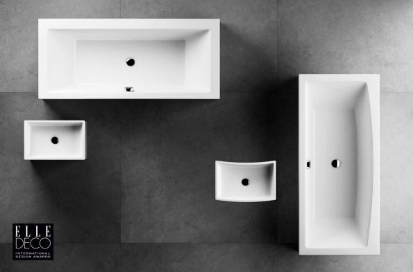 Minimalistické pojetí vany i umyvadla FORMY 01 stojí na puristicky čistých tvarech.  Naopak set FORMY 02 je více o emocích, rovné přímky se transformovaly do křivek a tvary jsou dynamičtější. Série získala ocenění Elle Decoration International Design Awards.