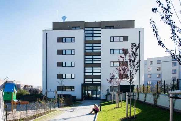 Areál pasivních bytových domů Ecocity Malešice – budoucnost stavění v praxi (VAPIS)