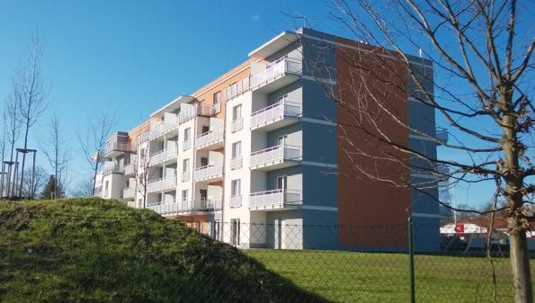 Bytový dům v Mariánských Lázních, systém strojního zdění VAPIS QUADRO-E, nosné konstrukce tl. 200 resp. 240 mm