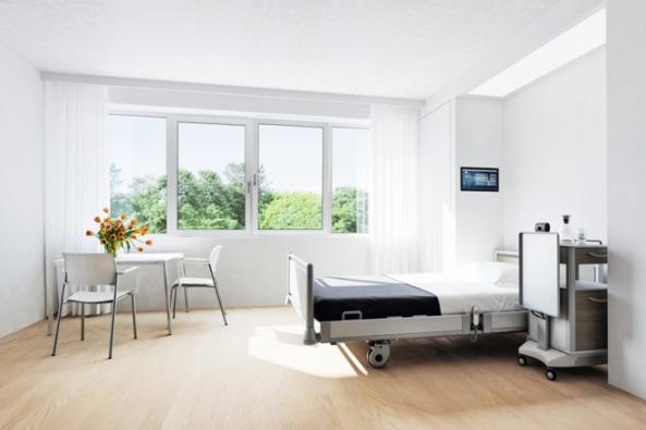 Pro nemocnice, pečovatelské domy, sanatoria a obecně všechny veřejné objekty s vysokou koncentrací osob a zvýšenými nároky na hygienu vyvinula společnost Schüco povrch SmartActive, antimikrobiální úpravu rámů oken a rukojetí.
