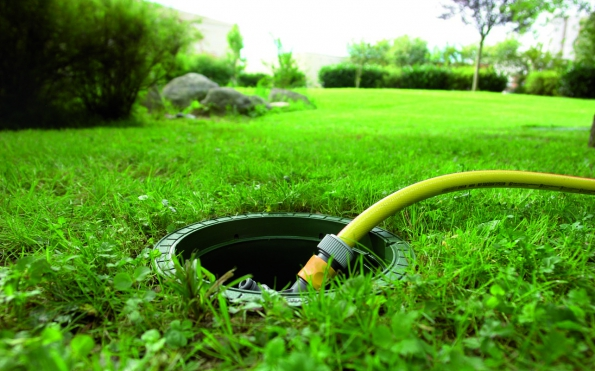 Čerpání dešťové vody z nádrže (Nicoll)