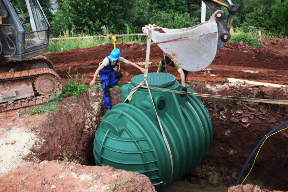 Instalace nádrže na dešťovou vodu (Nicoll)