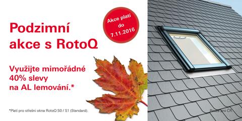 V podzimních akcích společnosti Roto můžete získat střešní okna osazená trojskly za cenu dvojskel nebo slevu 40% na lemování ke střešním oknům. Akce platí až do 7. listopadu.